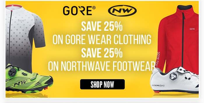 Save 25% on Gore Wear Clothing and 30% on Northwave Footwear
