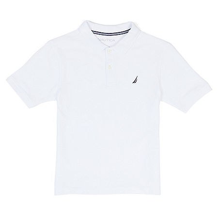 Boys' Anchor Short Sleeve Stretch Polo Deck Shirt (8-20)
