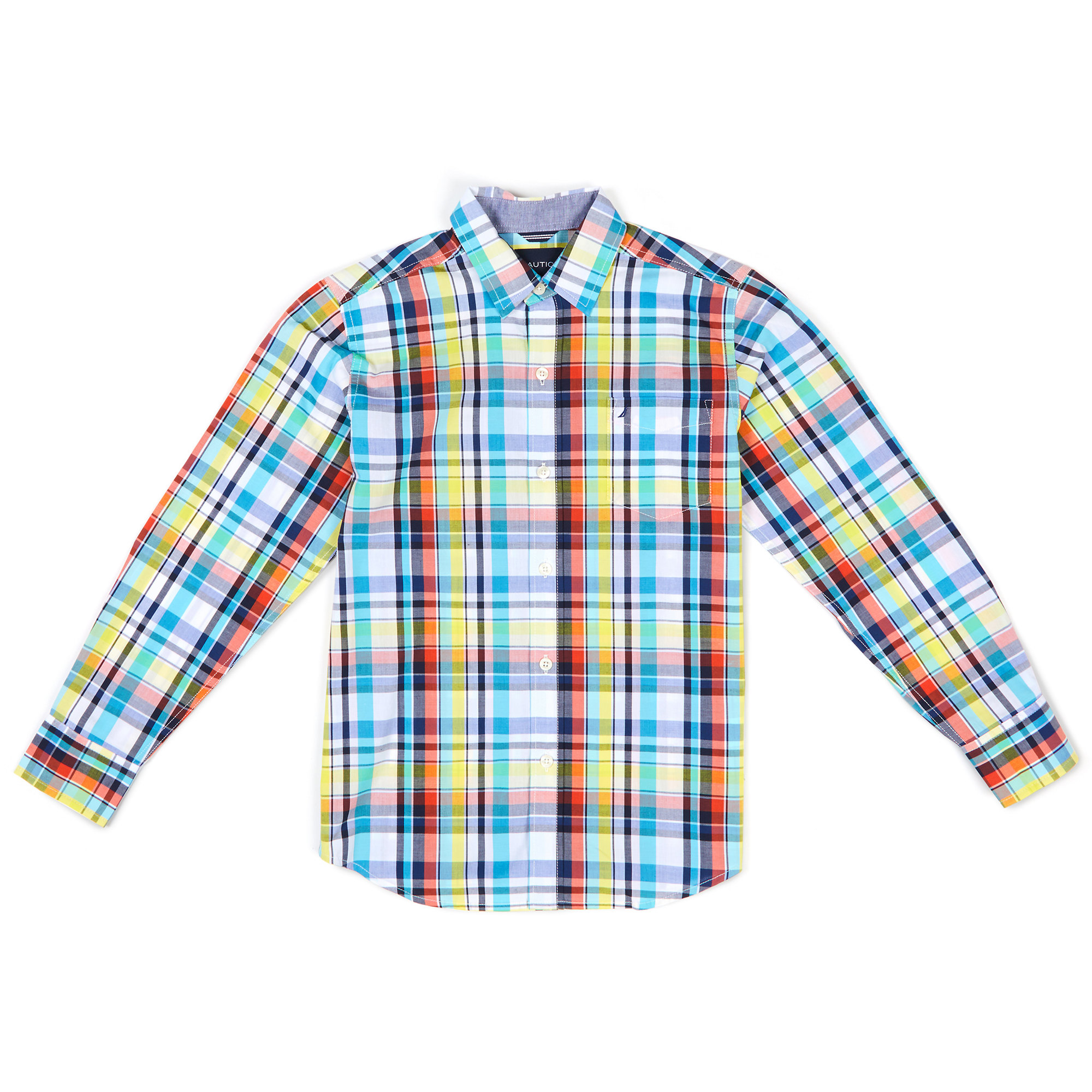 Little Boys' Michael Plaid Button Down (4-7)