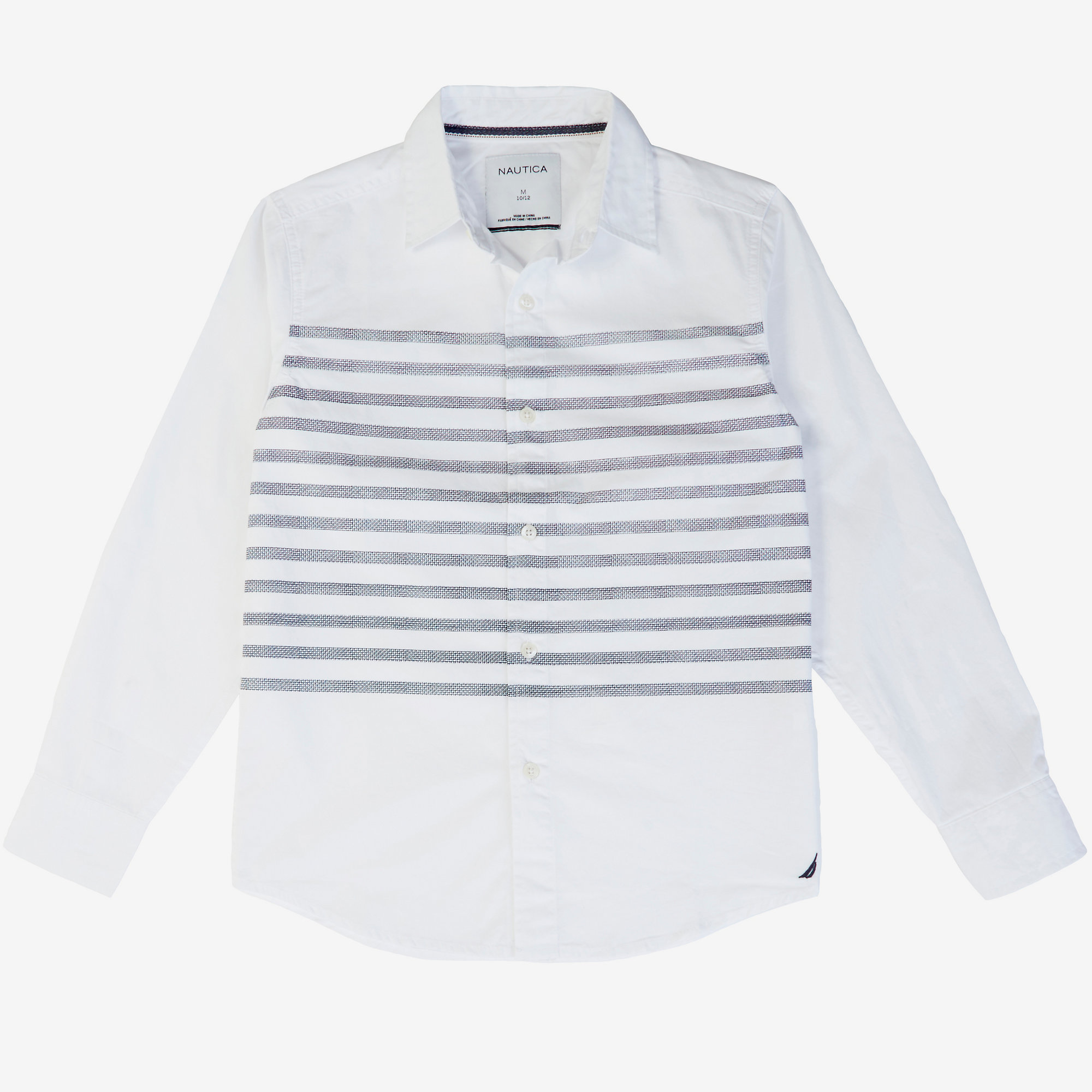 Boys' Placed Stripe Shirt (8-16)