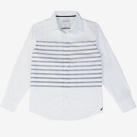 Little Boys' Placed Stripe Shirt (2T-7)