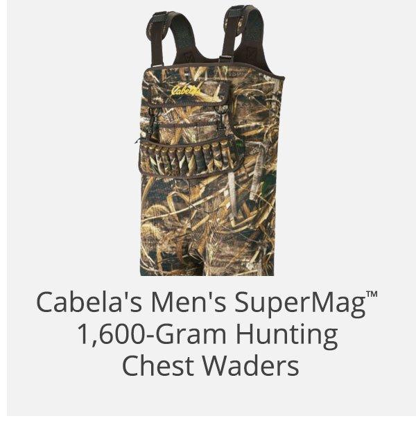 Cabela's Men's SuperMag 1,600-Gram Hunting Chest Waders