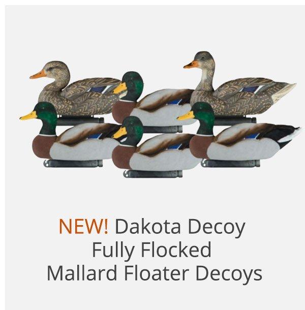Dakota Decoy Fully Flocked Mallard Floater Decoys