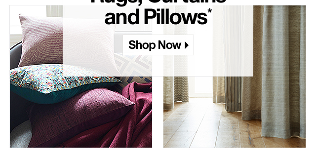20% off Lighting, Rugs, Curtains and Pillows*