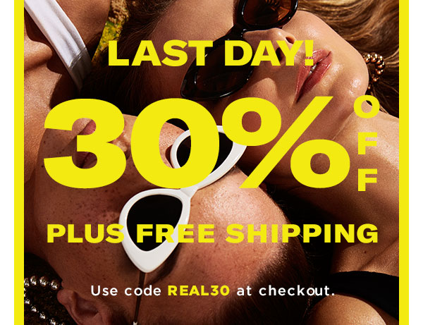 THE REAL DEAL! 30% OFF PLUS FREE SHIPPING. Use code REAL30 at checkout.