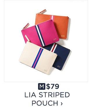 $79 - LIA STRIPED POUCH