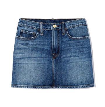 Le Mini Denim Skirt goop x Frame $225