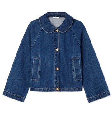 Co Denim Round-Collar Jacket