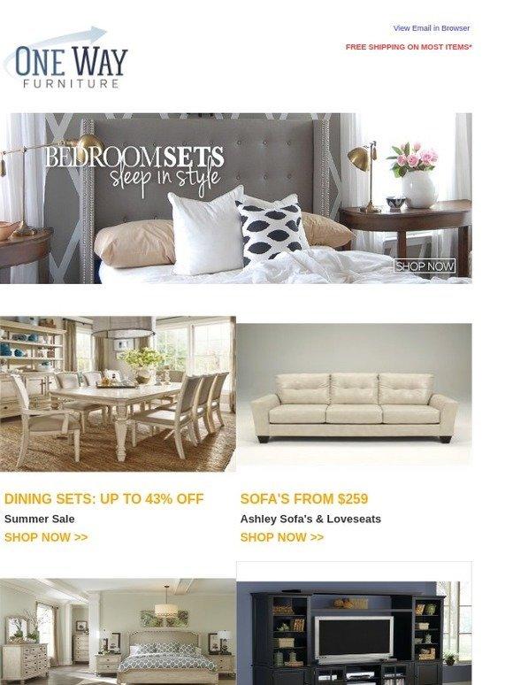 OneWayFurniture.com: Prime Furniture Sale   Bedroom, Dining, U0026 Office Up To  45% Off | Milled