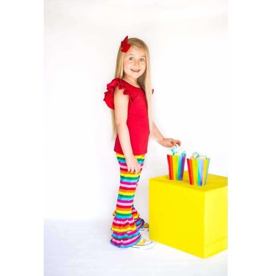 Rainbow Triple Ruffle Pants - PREORDER