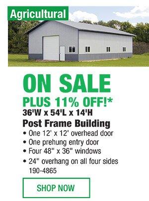 Menards: 11% Off* Post Frame Buildings | Milled