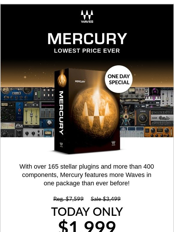 Waves Audio: TODAY ONLY – $1999 for Mercury | Milled