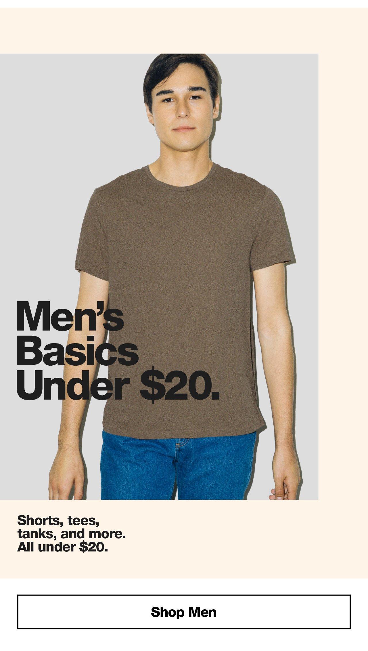 Men's Basics Under $20