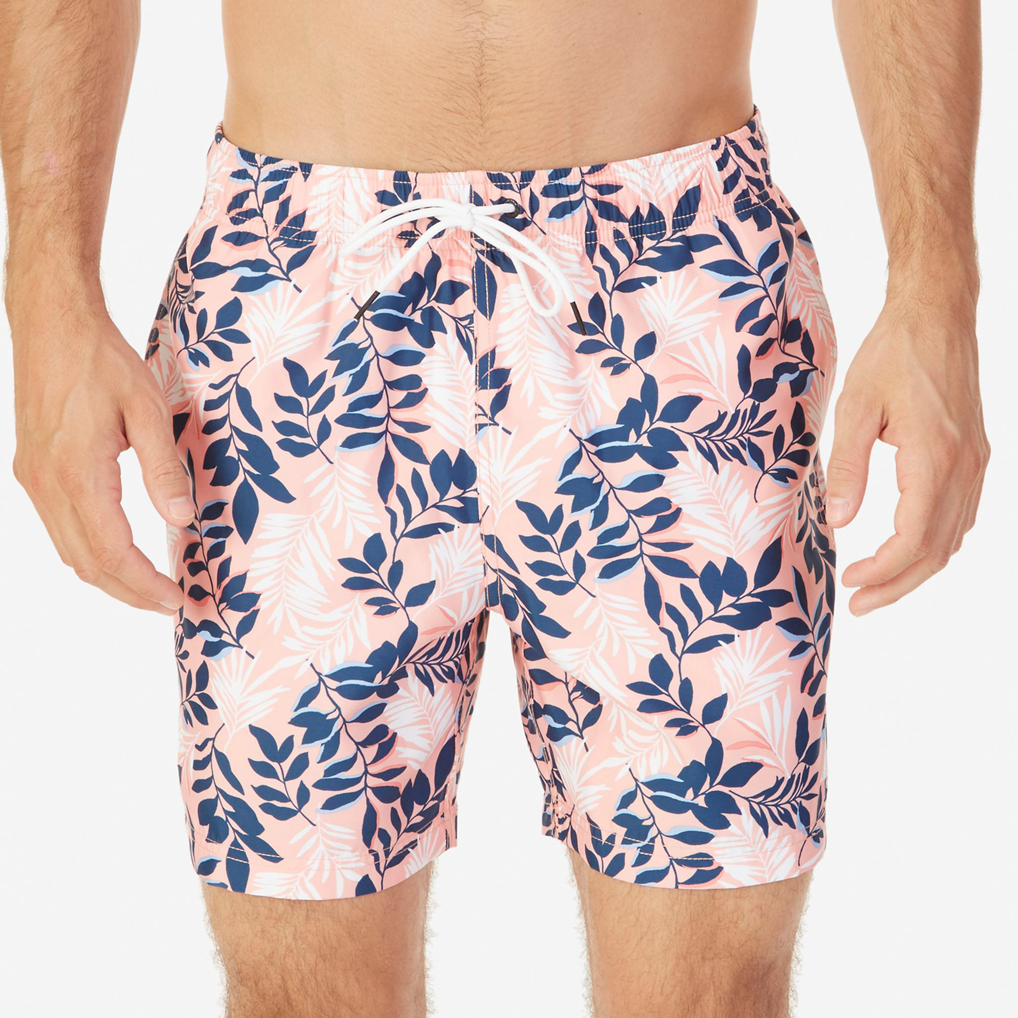 Quick-Dry Floral Swim Trunks