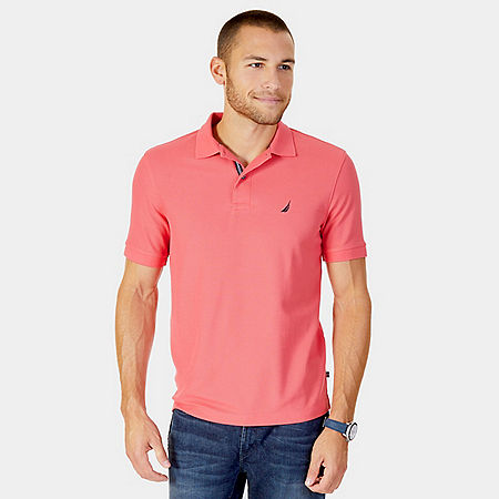 Classic Fit Performance Deck Pique Polo Shirt