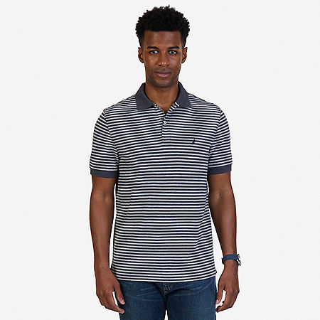 Classic Fit Striped Polo Shirt