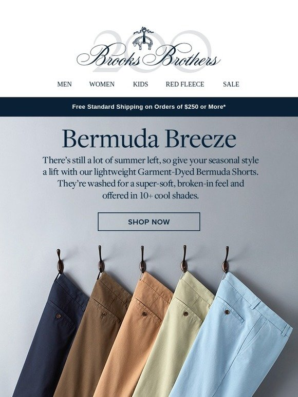 15bd46414b Brooks Brothers: Required wearing for summer: Garment-Dyed Bermuda Shorts |  Milled