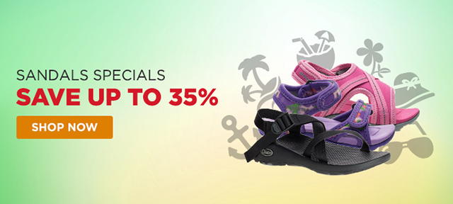 Sandals Specials - Save up to 35%