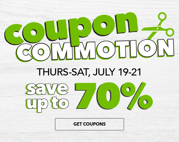 Coupon Commotion. Save up to 70%. SHOP ALL DEALS.