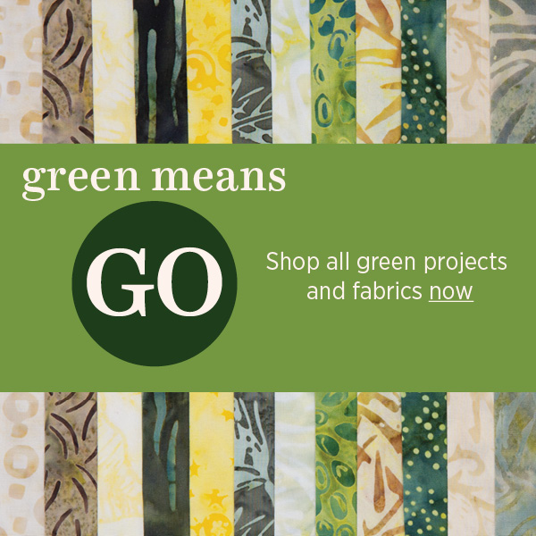 Shop for green projects and fabric
