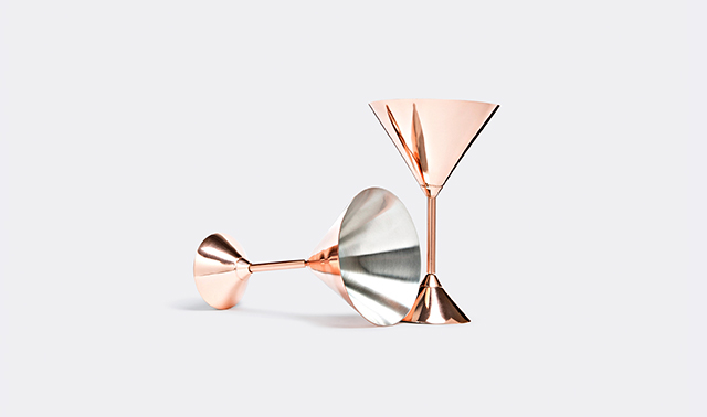 'Plum' martini glasses, set of two By Tom Dixon
