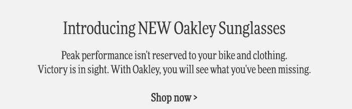 Peak performance isn't reserved to your bike and clothing.  Victory is in sight. With Oakley, you will see what you've been missing.