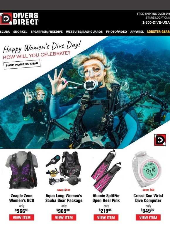 eb28af925f Divers Direct  Today s Women s Dive Day! How will you celebrate ...