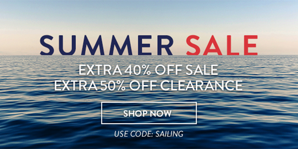 SUMMER SALE EXTRA 40% OFF SALE. EXTRA 50% OFF CLEARANCE SHOP NOW