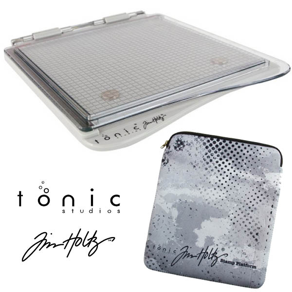 Image of Tim Holtz & Tonic Studios Stamp Positioning Platform with Protective Sleeve