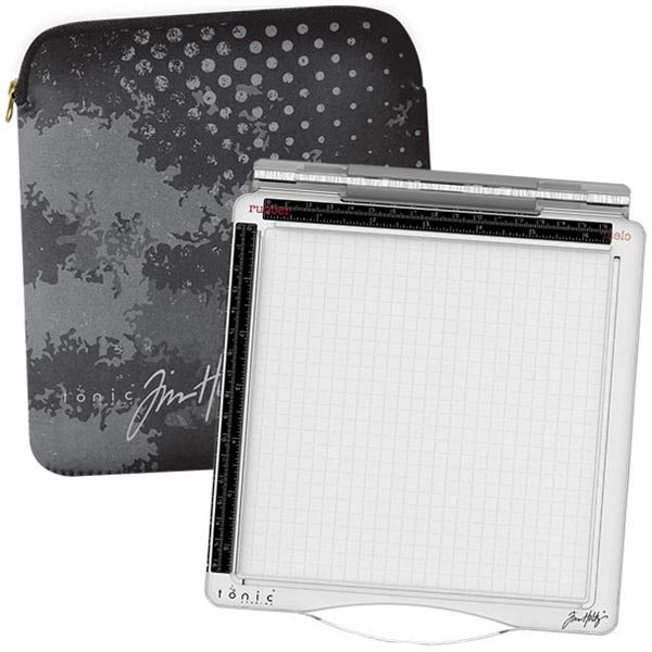 Image of Tim Holtz & Tonic Studios Travel Stamp Platform & Protective Sleeve Bundle