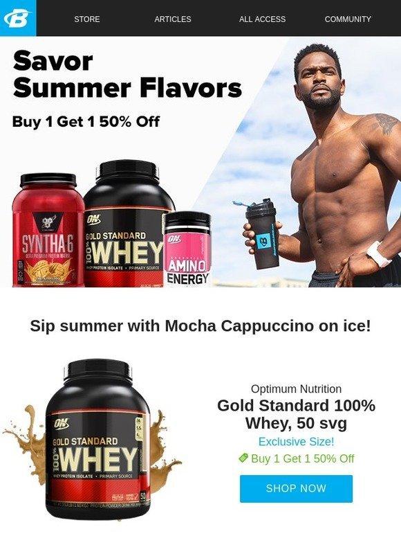 Bodybuilding com: Sip on some summer sizzle! BOGO 50% off