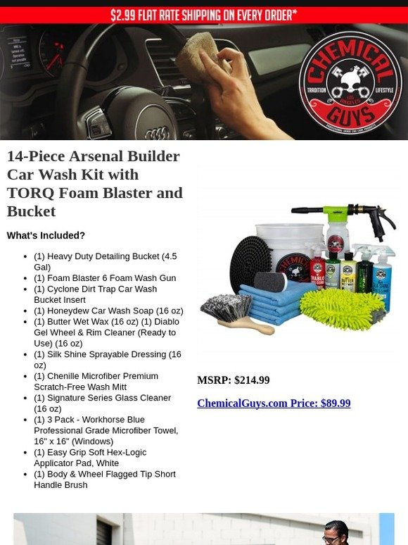Chemical Guys Just Launched 14 Piece Arsenal Builder Car Wash Kit