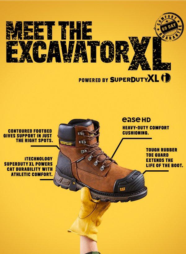 Caterpillar Excavator XL Pull On Waterproof Composite Toe Work Boot Mens