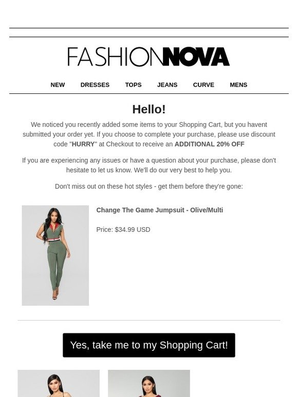 de8c806ef4 Fashion Nova  Hey You Forgot Something