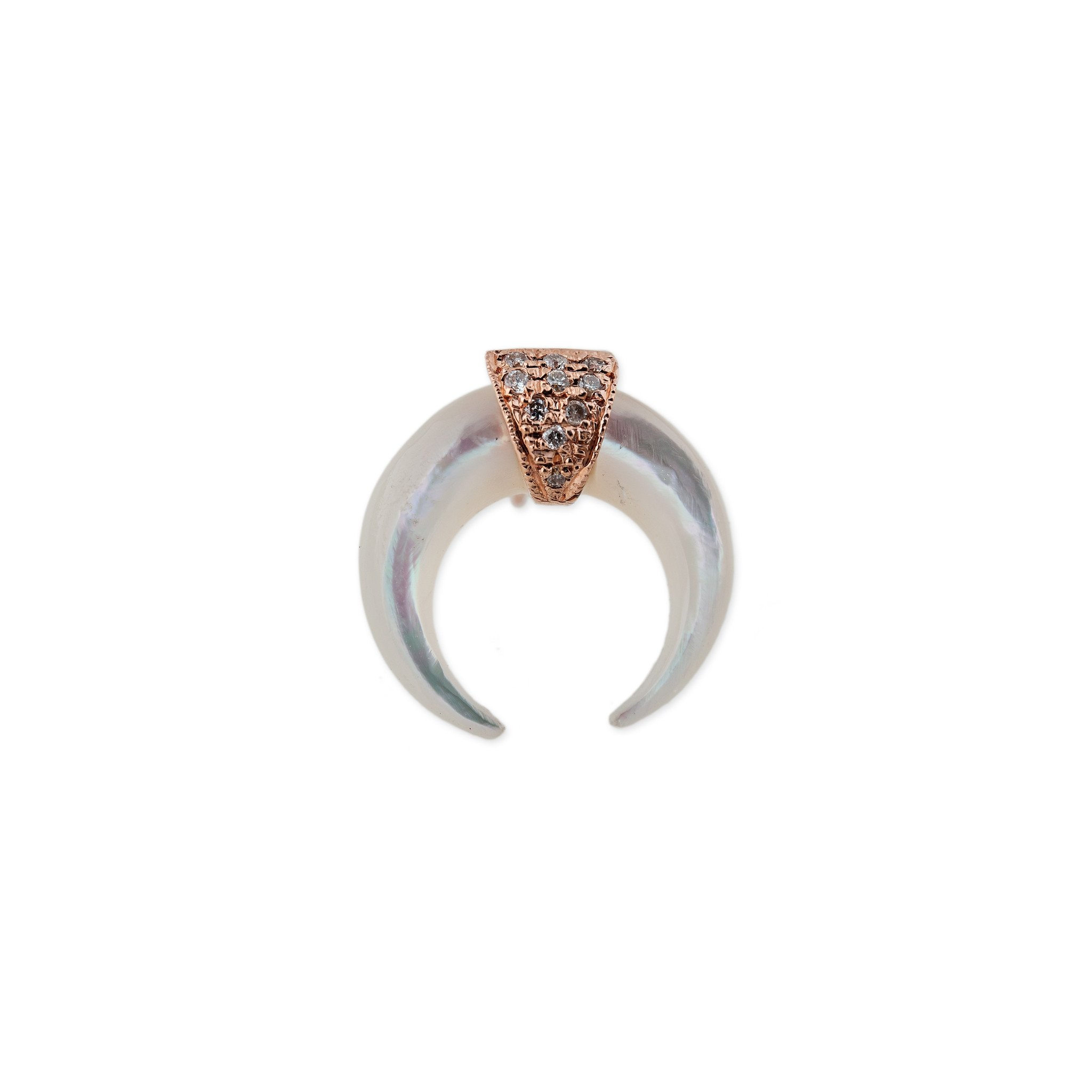 Image of Pearl Double Horn Stud