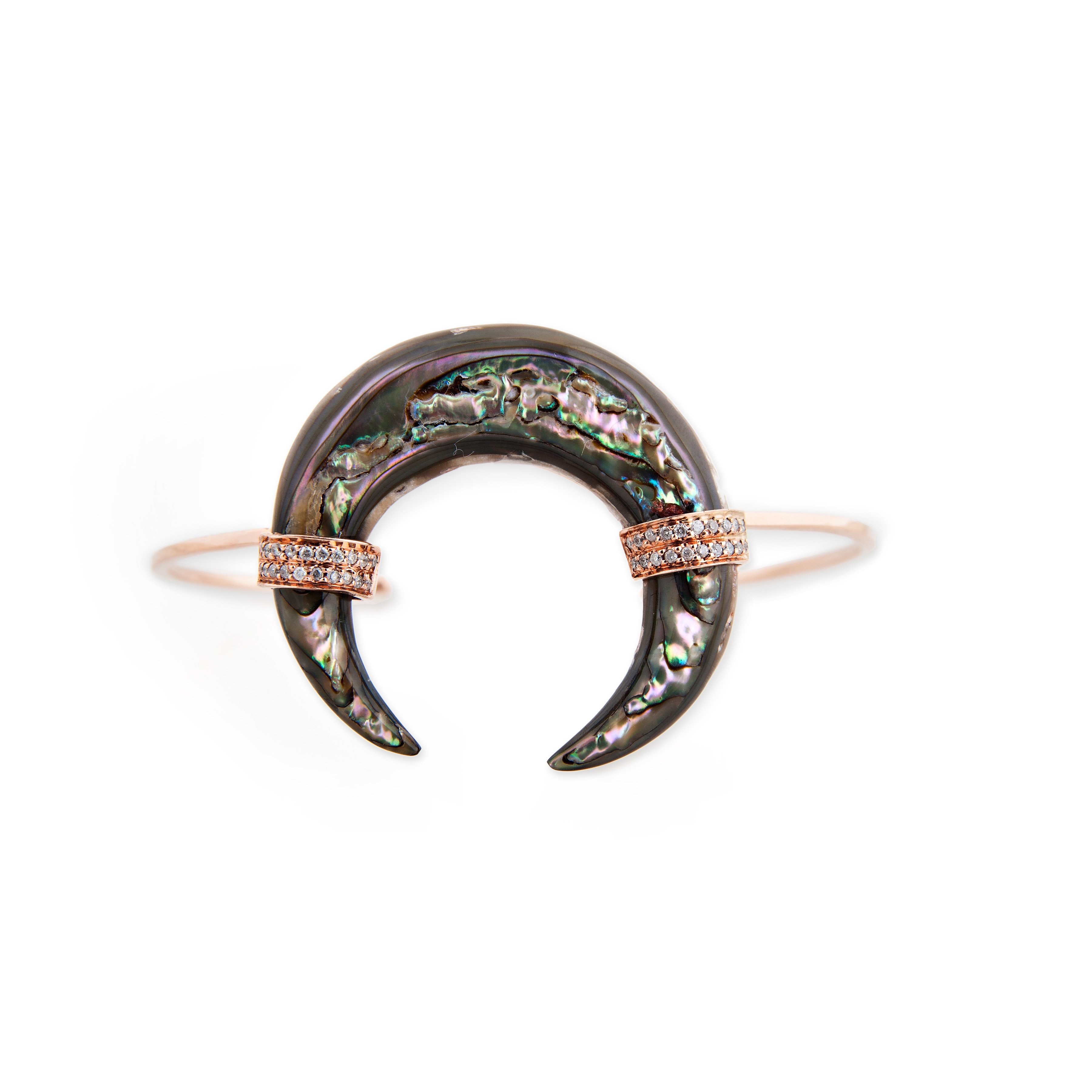Image of Abalone Double Horn Cuff