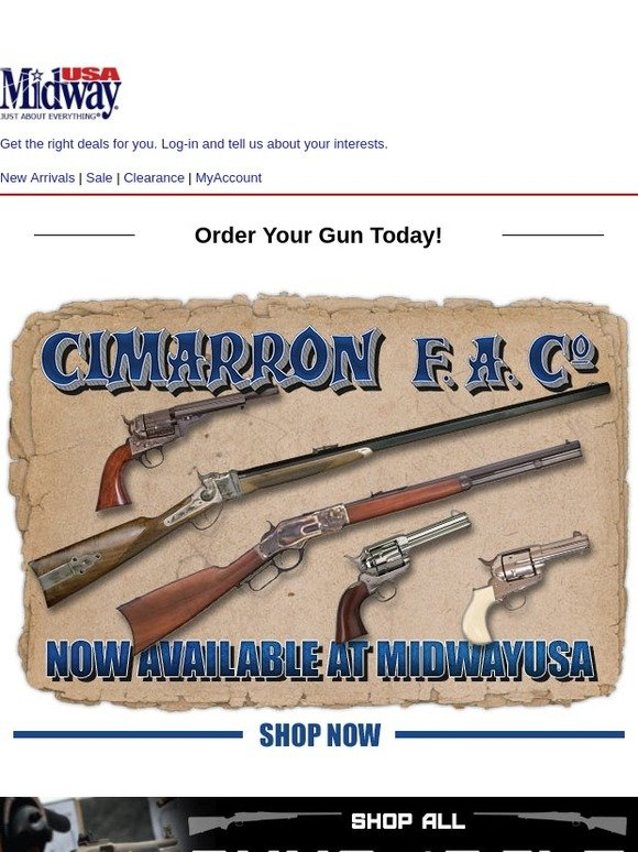 MidwayUSA: Cimarron Guns Now Available at MidwayUSA! | Milled