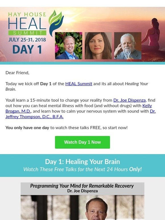 Hay House, Inc : The Free HEAL Summit Starts Now! | Milled