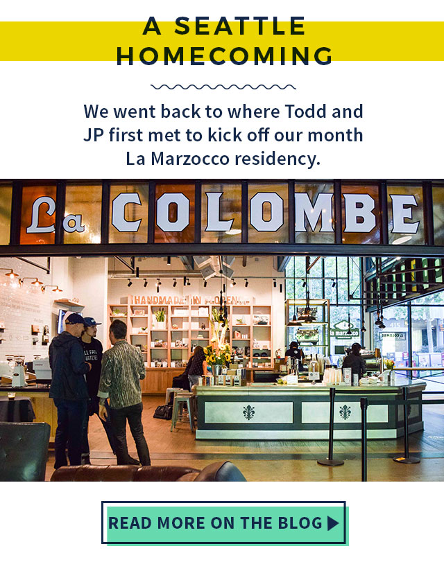 A Seattle Homecoming at the La Marzocco cafe