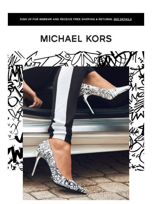 michael kors graffiti sneakers