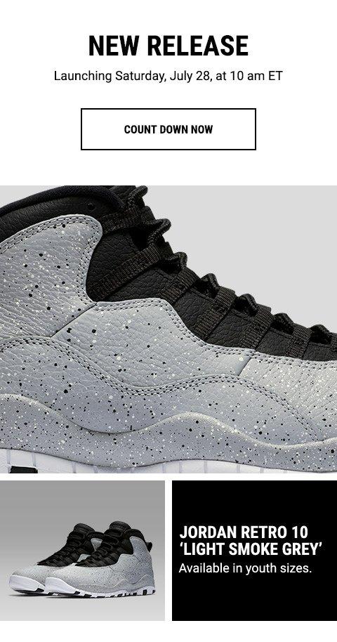 factory price 603e6 edb27 Footaction : Jordan Retro 10 'Light Smoke Grey ...