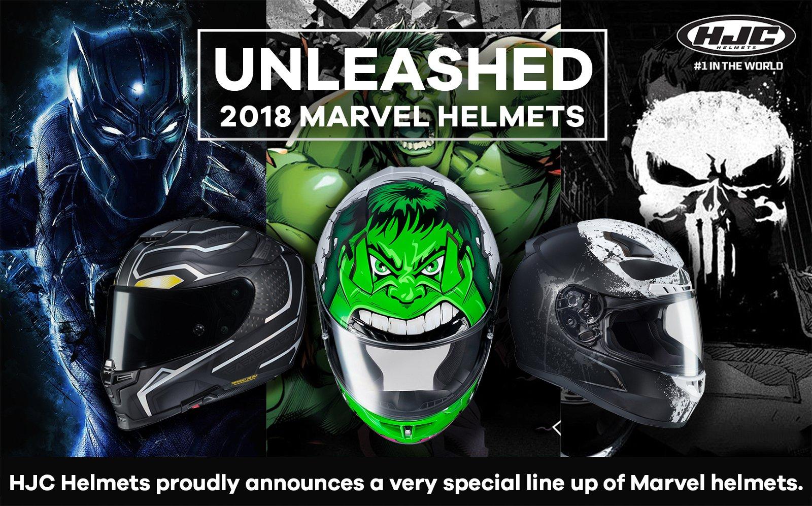 8b9eea686 Motorhelmets  HJC x Marvel 2018 Helmets Unleashed