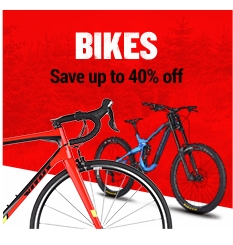 Up to 40% off bikes