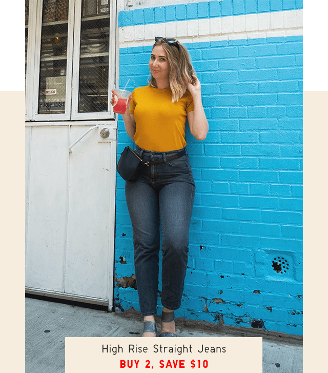 HIGH RISE STRAIGHT JEANS - SHOP NOW
