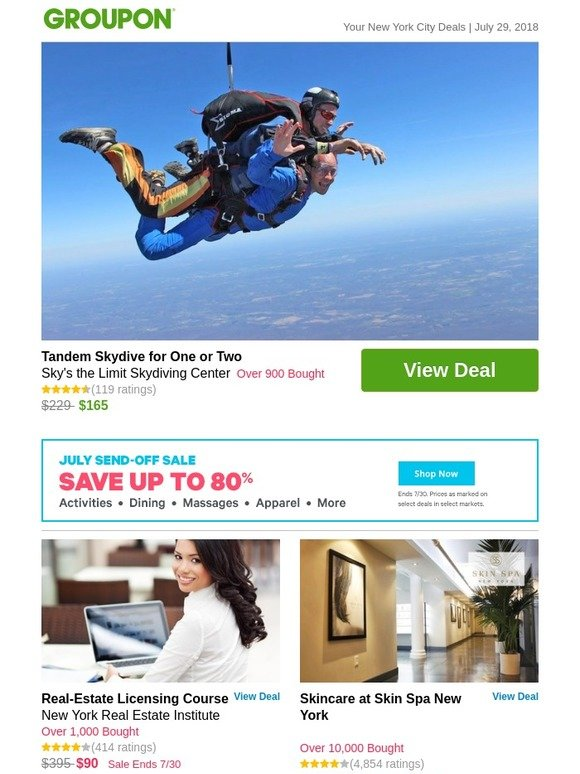 Groupon: Tandem Skydive for One or Two | Milled