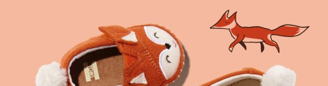 Orange Felt Fox Face Tiny TOMS Crib Alpargatas