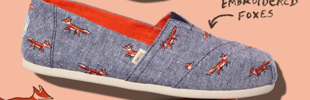 Chambray Embroidered Fox Women's Classics