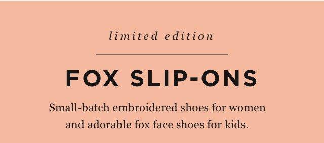 Fox Slip-ons