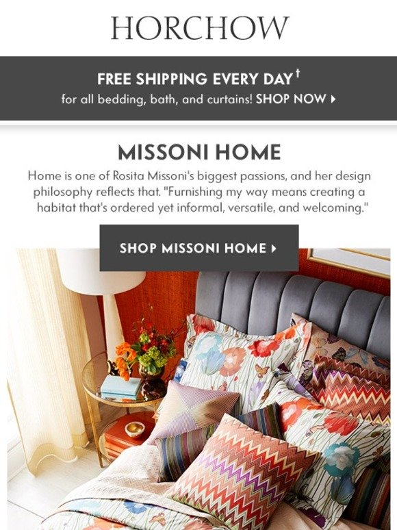 Horchow Missoni Home Bedding Bath Inspiration Milled