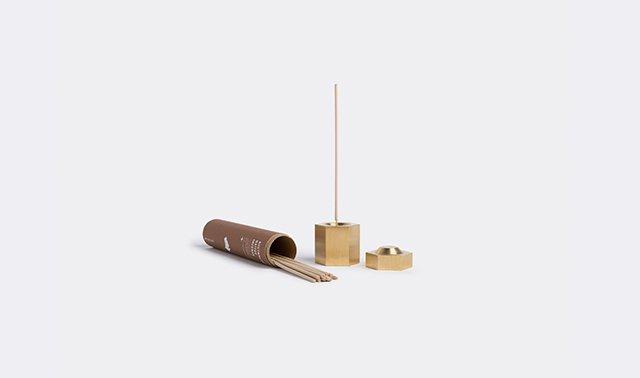 Hexagon' incense burner by Addition Studio
